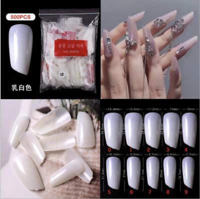 Lip Stick Packet Nail Tips 500pcs