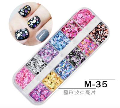 12 Grids Nail Decoration M-35