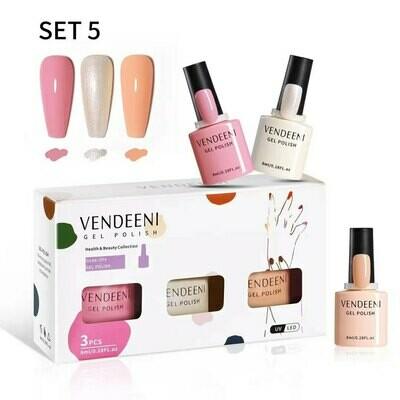 VENDEENI 3pcs/ Set 7.5ml Gel Polish Set 5