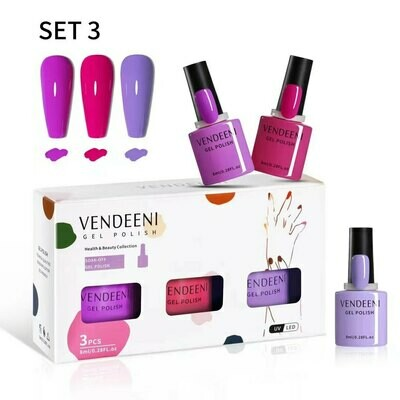VENDEENI 3pcs/ Set 7.5ml Gel Polish Set 3