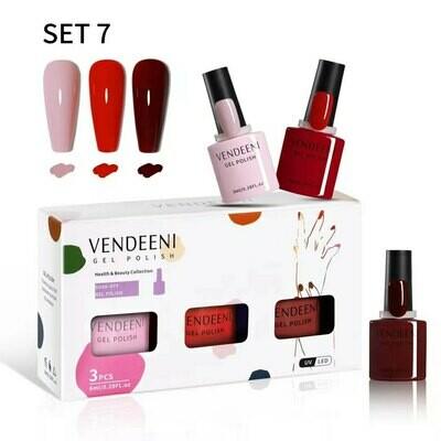 VENDEENI 3pcs/ Set 7.5ml Gel Polish Set 7