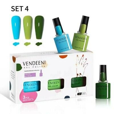 VENDEENI 3pcs/ Set 7.5ml Gel Polish Set 4