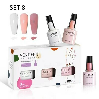VENDEENI 3pcs/ Set 7.5ml Gel Polish Set 8