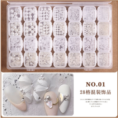 28 Grids Box Nail decoration Box
