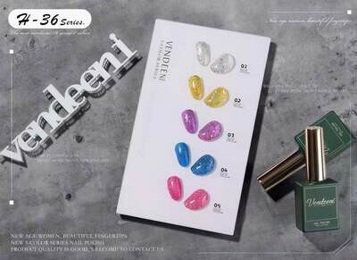 Vandeeni UV/LED Gel Polish 15ml 5pcs/Set H36 + FREE Color Display
