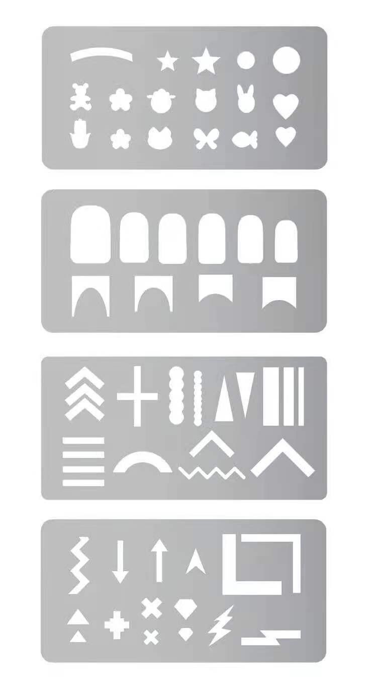 Nail Stamping Stancil Plate 4pcs