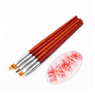Ombre Red Hand Brush 5pcs