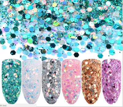 Magic glitter sequins 6pcs