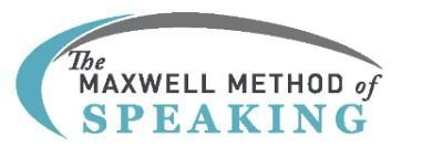 Maxwell Speakers Club - Year Subscription