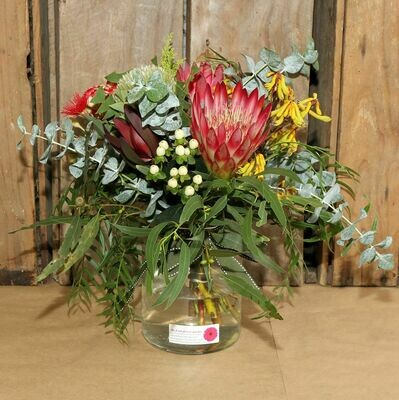 Proteas and Natives in Vase