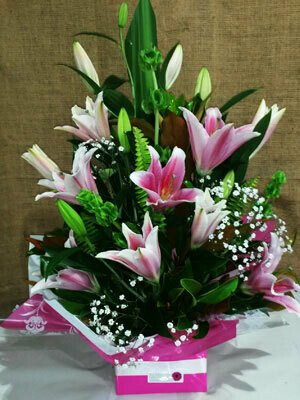 Oriental Lily Arrangement