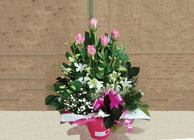 Rose and Orchid Bucket