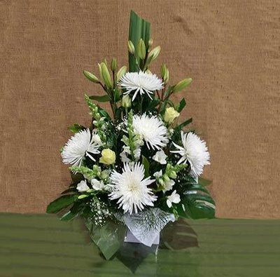Large Mixed White/Cream Arrangement