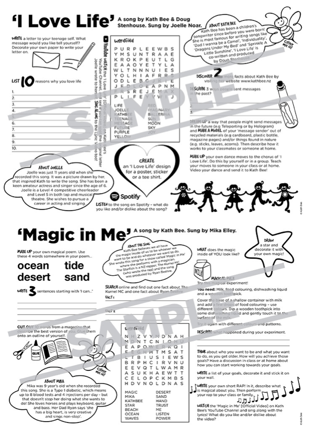 Activity Sheets - I Love Life & Magic in Me