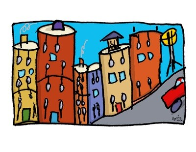 Drum City Brooklyn 24 x 30 CA11331