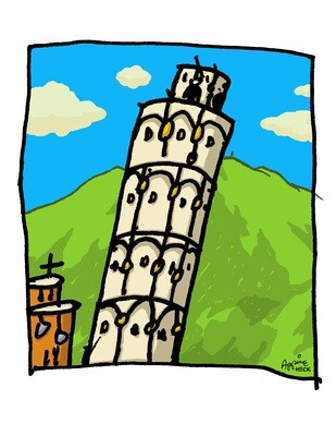 Tower of Drums 24 x 30 CA11341