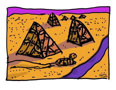 Drums of Giza 24 x 30 CA11337