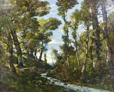 Henri Harpignies - Forest of Fontainebleau