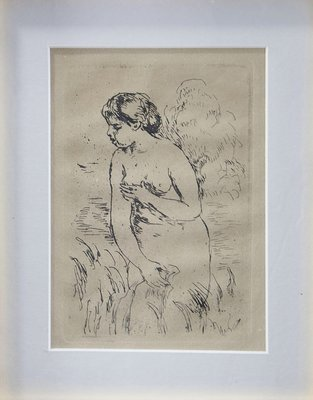 Pierre-Auguste Renoir - Baigneuse Debout au Mi-Jammbes/SOLD