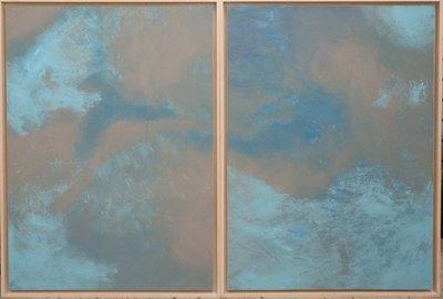 SALE Monique Seyler - Gulf Sky Dyptich