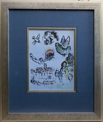 Marc Chagall, Nocturne in Vence/SOLD!
