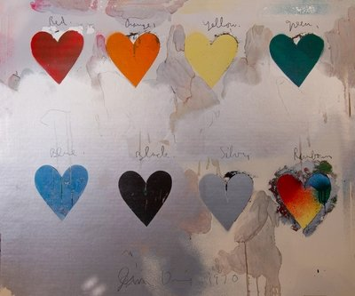 Jim Dine Eight Hearts/SOLD