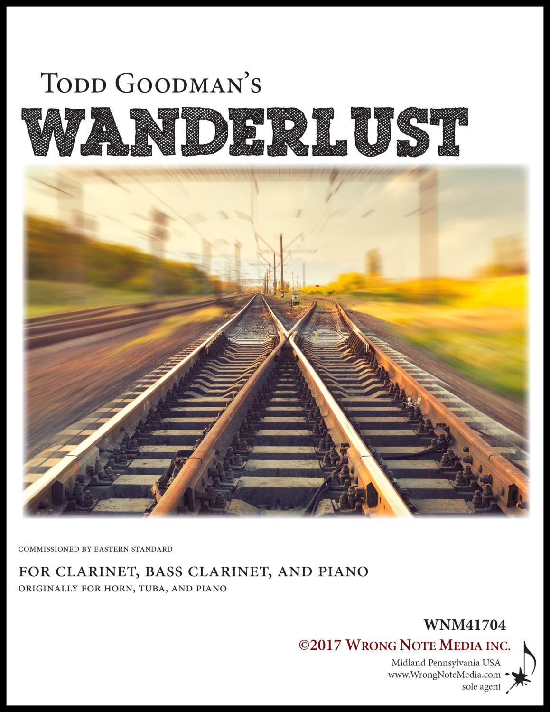 Wanderlust - clarinet, bass clarinet, piano, by Todd Goodman