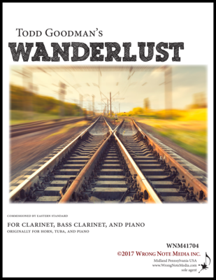 Wanderlust - clarinet, bass clarinet, piano, by Todd Goodman