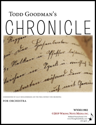 Chronicle - Orchestra SCORE, by Todd Goodman