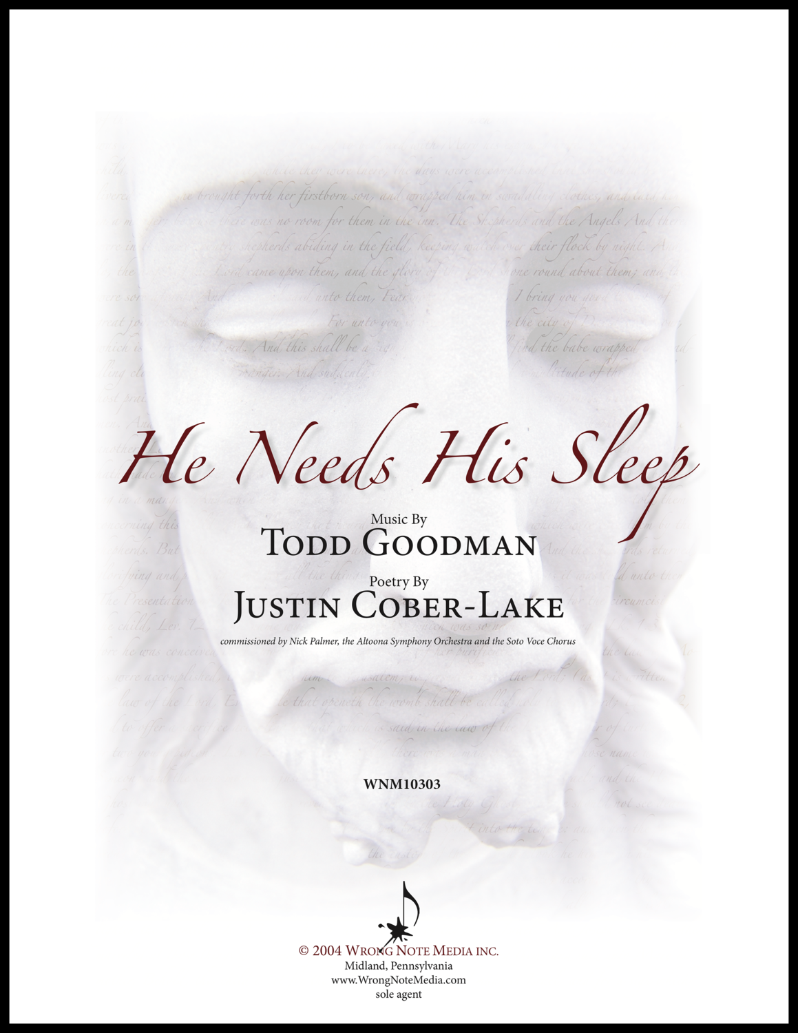 He Needs His Sleep - Orchestra and Choir SCORE, by Todd Goodman