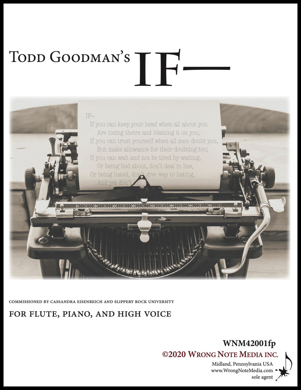 IF— for high voice, flute, and piano by Todd Goodman