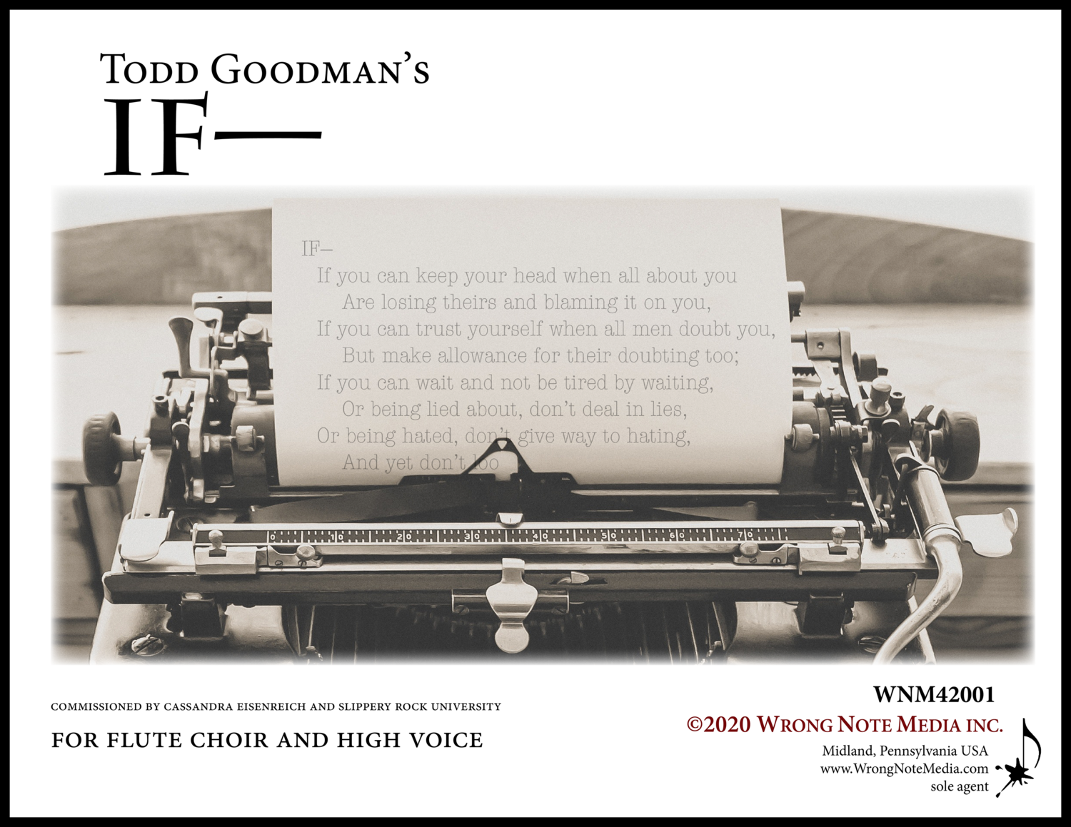 IF— flute choir and high voice by Todd Goodman