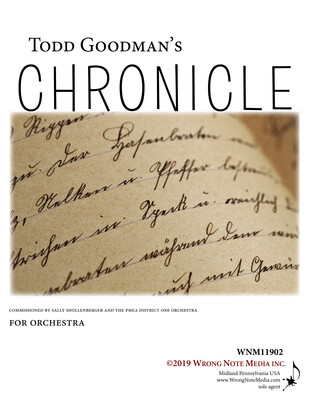 CHRONICLE by Todd Goodman