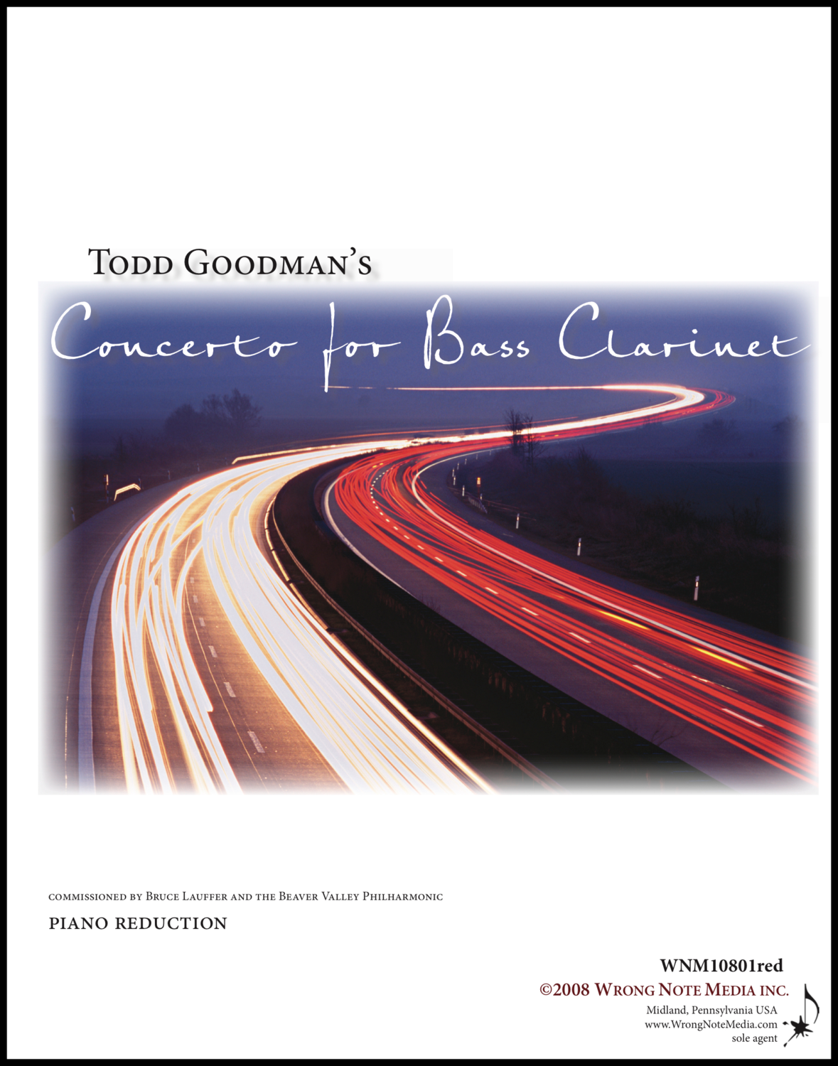 CONCERTO FOR BASS CLARINET AND PIANO by Todd Goodman