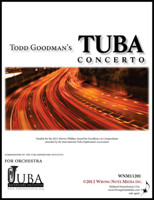 Tuba Concerto - orchestral SCORE, by Todd Goodman