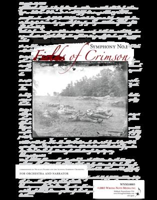"Symphony No. 1 ""Fields of Crimson"" - orchestra SCORE, by Todd Goodman"