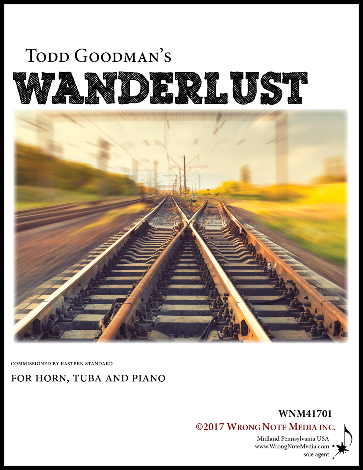 Wanderlust - horn (or euphonium), tuba, and piano, by Todd Goodman