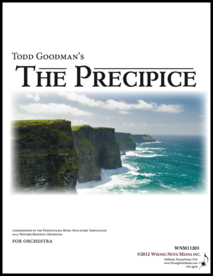 The Precipice - orchestra SCORE, by Todd Goodman