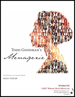 Menagerie - solo violin, by Todd Goodman
