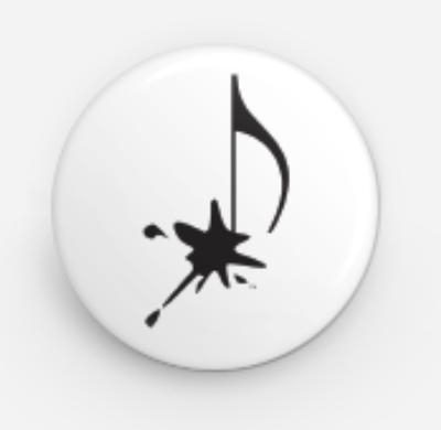 """Splat Note Button (1"""" round)"""