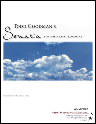Sonata for Solo Bass Trombone - solo bass trombone, by Todd Goodman