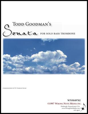 Sonata for Solo Bass Trombone - solo bass trombone, by Todd Goodman