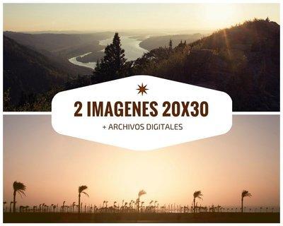 2 Imagenes impresas a 20x30 + Archivos digitales + 7% de descuento