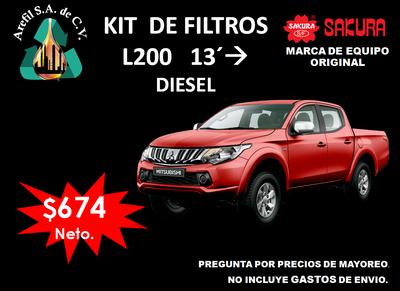 Kit de Filtros Mitsubishi L200 a Diesel 2013 en adelante