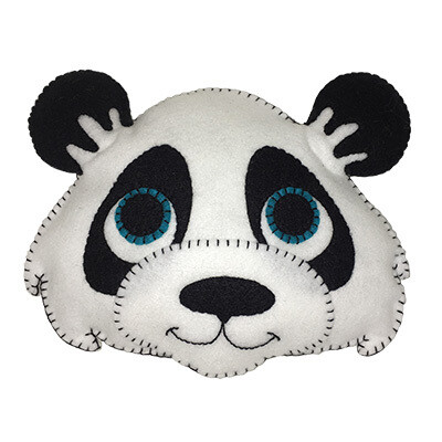 Cuddly Panda Felt Friend