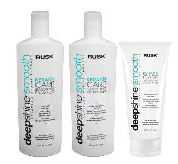 Rusk Deepshine Smooth (Shampoo, Conditioner & Deep Penetrating Treatment)