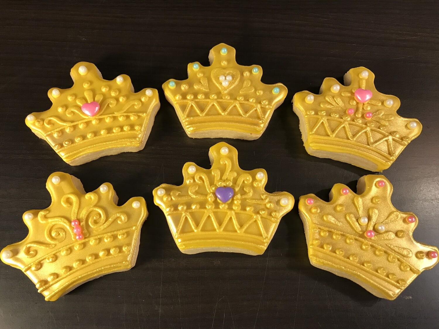 GOLD CROWN SET (1/2 DOZEN)