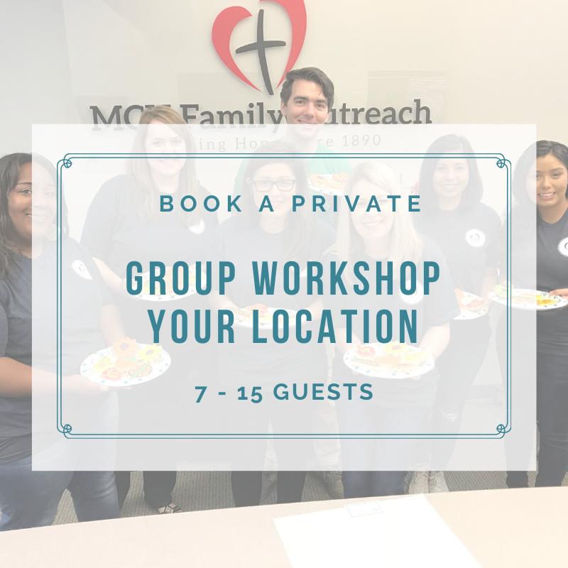 PRIVATE GROUP WORKSHOP (7-15 Guests) DEPOSIT
