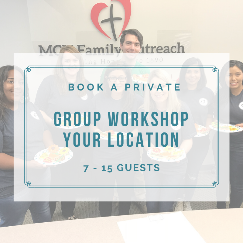 PRIVATE GROUP WORKSHOP (7-15 Guests) DEPOSIT