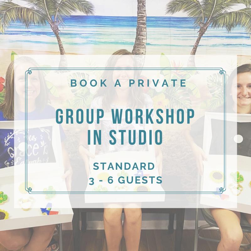 STANDARD PRIVATE GROUP IN STUDIO (3-6 Guests) DEPOSIT